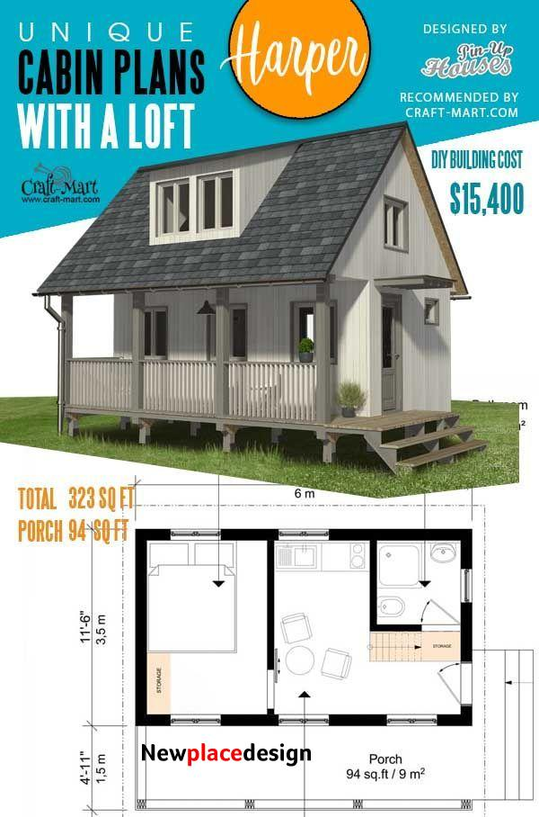 10 unique plans of tiny homes and cabins with loft - Craft-Mart