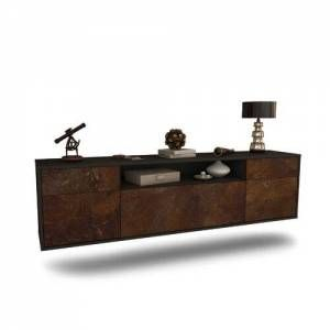 "Graeme TV Stand for TVs up to 78"" Ebern Designs Colour: Black/Rust"