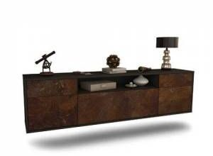 """Graeme TV Stand for TVs up to 78"""" Ebern Designs Colour: Black/Rust"""