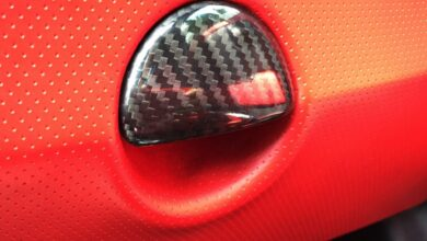 Fiat 500 Abarth Carbon Fiber Glove Box Handle Cover