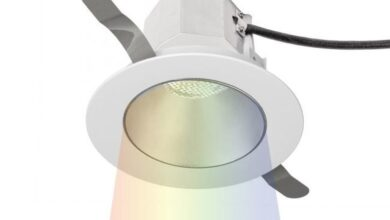Aether 3.5IN Color Changing Round Downlight Trim - Haze White / Flood