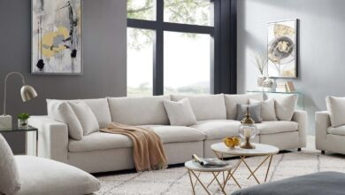 Commix Down Filled Overstuffed 4 Piece Sectional Sofa Set by Modway - Beige
