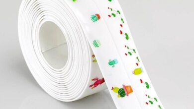 EasyCaulk™ Magic Anti-Mold Peel & Stick Self-Adhesive Caulk Tape Strip - White - Flowers