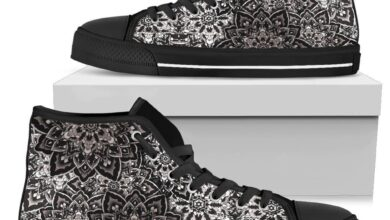 Mandala Guard Women's High Tops - Womens High Top - Black - Mandala Guard / US7 (EU38)