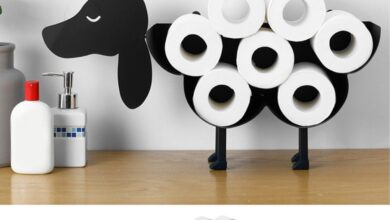 Novelty Toilet Paper Roll Holder for Bathroom Cast Iron Storage Stand Rack - Crane Shaped