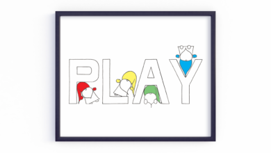 Play Gnomes 8x10 Art Print for Nursery or Kids Room. Multicolor, Blue, Green, Orange, Pink, Purple, Red, Yellow. 8x10 - Multicolor
