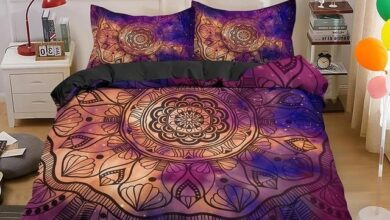Psychedelic Boho Luxury Bedding Set 2/3PCS With Pillowcase King and Queen Duvet Cover Sets Bedroom Decor - BSS1072 / US Full 203x208cm
