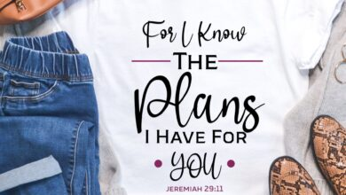 Christian Plus Size T-Shirt - Women's Curvy Comfort - For I Know The Plans I Have For Gals Like Me