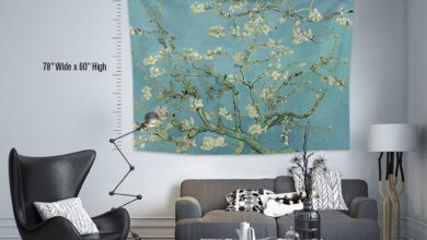 Vincent Van Gogh-Almond Blossoms,Fabric Wall Hanging,Tapestry,Textile Wall Hang,Wall Decoration,Master Piece Tapestry - 36*26 Inches