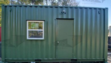 20 ft Container Home - The Fort Worth Model - Shiplap / 20 ft Deck w/ Stairs / Off-grid Plus: Solar & Water