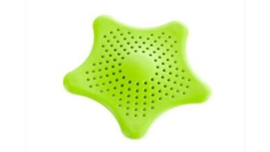 Shower Drain Silicone Kichen Sink Drain Hair Stopper Catcher Filter Bathroom Accessories Bathtub Strainer Sewer Outfall Filter Hair Stoppers & Catchers  - Green