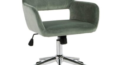 Porch & Den Sabrina Velvet Home Office Swivel Chair - Cactus
