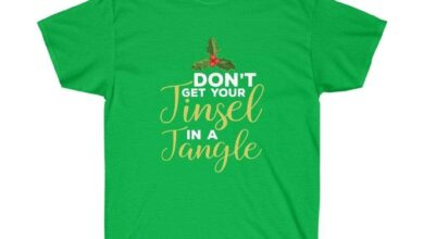 Don't Get Your Tinsel In A Tangle Christmas Festive Unisex T-shirt - Irish Green / 2XL