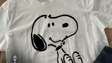Cute Snoopy Tee, Custom with any text or Image Only - Ladies Slouchy V-Neck - L