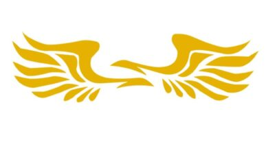 1 Pair Wing Style Car Truck Rearview Mirror Decal Reflective Sticker Decoration - Yellow