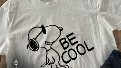 Be Cool Snoopy Tee, Personalize Any Text or Image Only - Ladies Fitted V-Neck - L