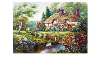 Full Drill Resin Diamond Painting Fairy Tale World Art Wall Craft Kit Home Decor - as the picture ab