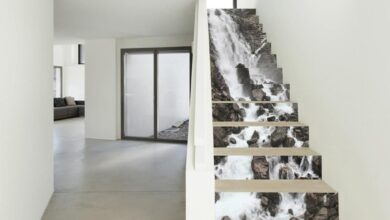 13Pcs Staircase Stickers DIY Renovation Self-adhesive Waterproof Stairs Stickers - as the picture h