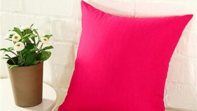 Fashion Simple Solid Color Throw Cushion Square Cover Pillow Case Home Decor - Rose