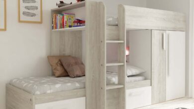 Barca Bunk Bed with Storage Drawers, Wardrobe & Shelves - White