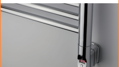 Heatpol Thermostatic WiFi Heating Element - Vertical H+ Designed for Towel Radiators - H+300W / Anthracite