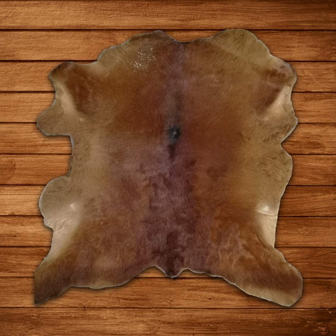 Charlie London Calf Skin Hair on Hide 100% Pure Cow Hide Decorative/Carpet/Rug/Wall Leather - Brown, Black and white Colour (206-28) - leather / Brown