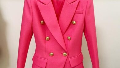 Baroque Chic Designer Blazer (several colors available) - rose red / M