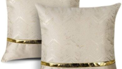 2 X Artscope Cushion Cover for Bed Couch Sofa Car Decor Luxury Modern Minimalist Square Pillowcase - Beige