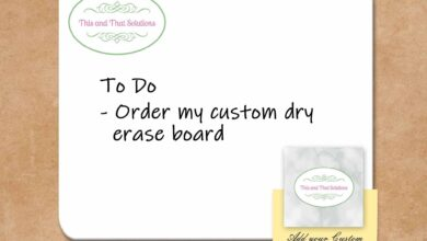 Customized Dry Erase Boards | Personalized Office Accessories | Company Logo - Hardboard - 9 x 12 / Landscape