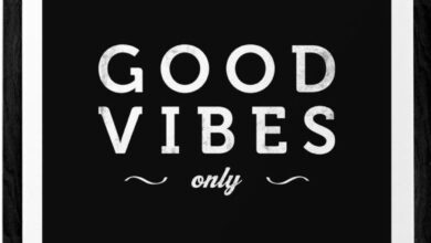 Good vibes only print. Black and white typography print - Black background / 12 x 16