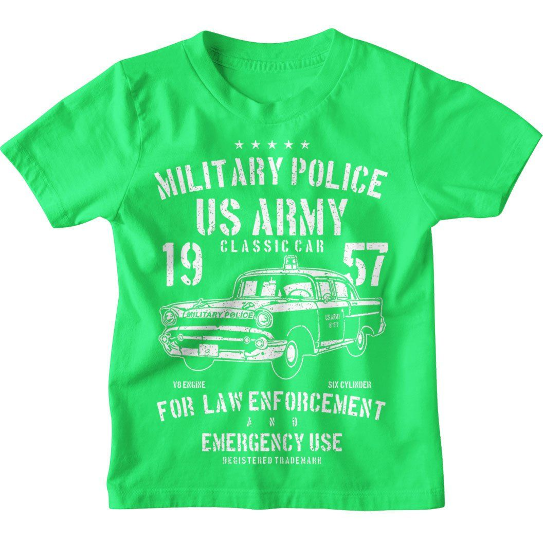 US Army Military Police Kids Unisex T-Shirt - Age 12-13 / Green / Kids T-Shirt