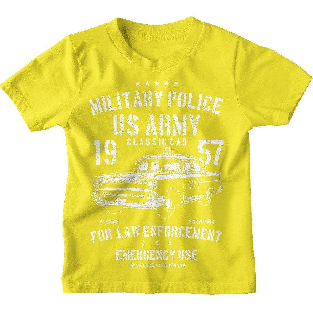 US Army Military Police Kids Unisex T-Shirt - Age 12-13 / Yellow / Kids T-Shirt