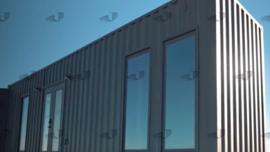 40 ft Container - The El Dorado Model - Shiplap / 40 ft Deck w/ Stairs / Off-grid Water Only