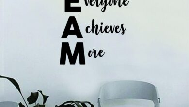 Team Together Everyone Achieves More Quote Decal Sticker Wall Vinyl Art Home Room Decor Teacher School Classroom Science Work Office Job - grey