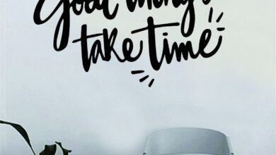 Good Things Take Time v2 Quote Beautiful Design Decal Sticker Wall Vinyl Decor Living Room Bedroom Art Simple Cute Travel Good Vibes Positive Happiness Smile Cursive Girls Teen - grey