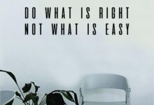 Do What is Right Not What is Easy Quote Wall Decal Art Vinyl Sticker Home Decor Decoration Living Room Bedroom Inspirational Motivational Teen - gold