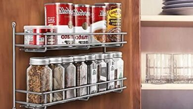 2 Tier Wall Mounted Spice Rack Organizer 2 Pack