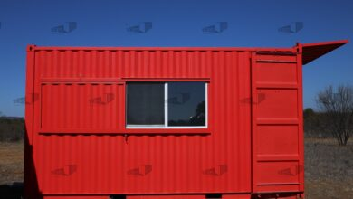 20 ft Container - The Kerrville Model - Panel / 10 ft Deck w/ Stairs / Off-grid Plus: Solar & Water