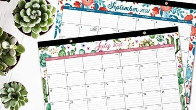 """2020-2021 Desk Calendar - 18 Months Desk Calendar, 17"""" x 12"""", Monthly Desk or Wall Calendar, July 2020 - December 2021, Large Ruled Blocks Perfect for Planning and Organizing for Home or Office"""