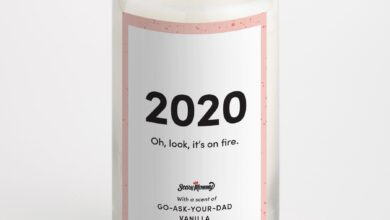 2020: Oh Look, It's On Fire candle - Go-Ask-Your-Dad Vanilla