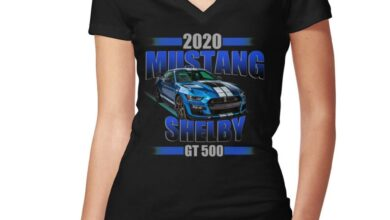 2020 Shelby Gt 500 Women's Fitted V-neck T-shirt by CarMad