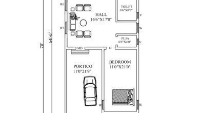 25'X64' Amazing North facing 2bhk house plan as per Vastu Shastra. Autocad DWG and Pdf file details.