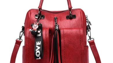 3-in-1 Women Backpacks Vintage - Red