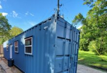 40 ft Container Home - The Birch Model - New / Standard (8.5') / Shiplap