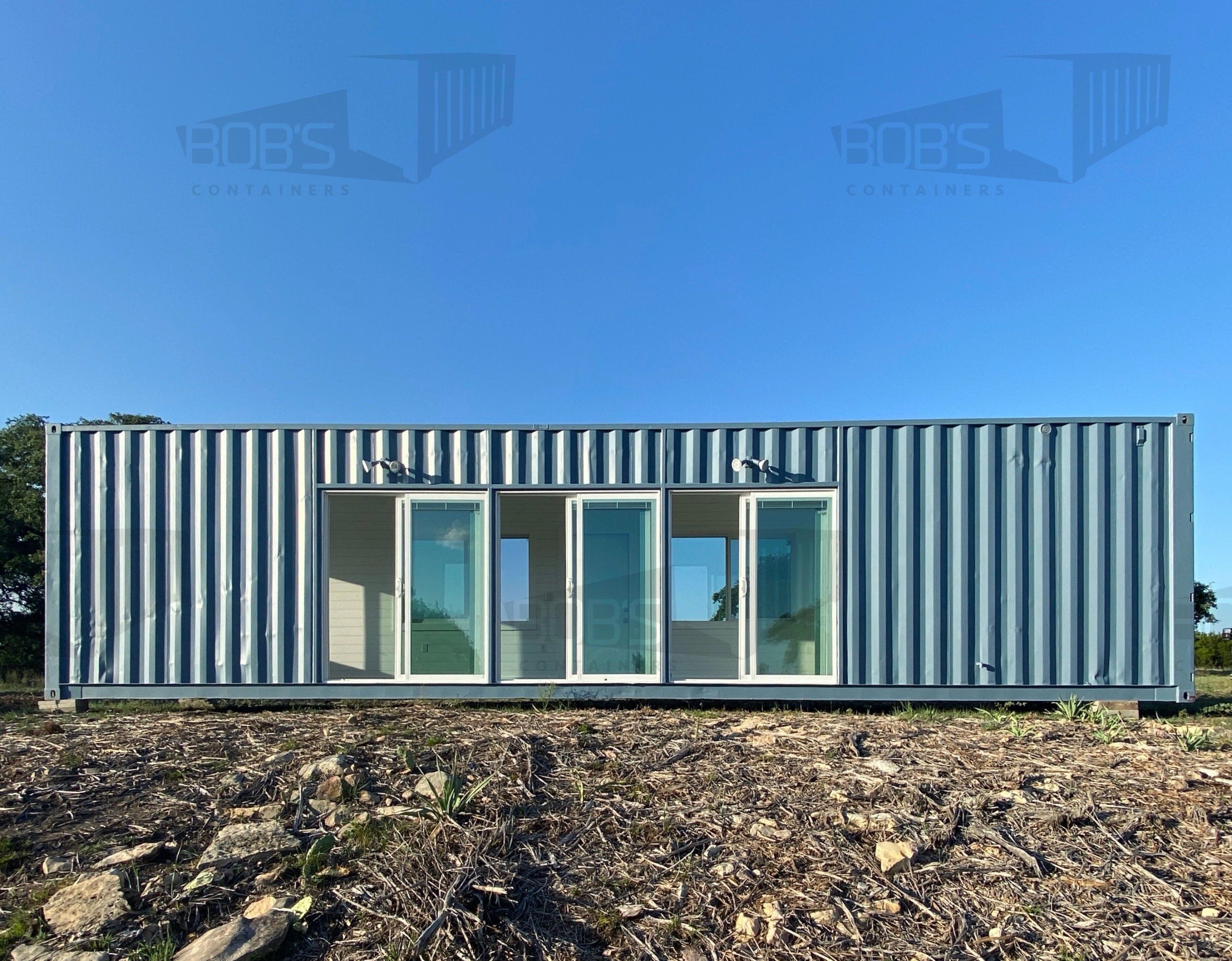 40 ft Container - The Cedar Model - Shiplap / 40 ft Deck w/ Stairs / No Bathroom Upgrade