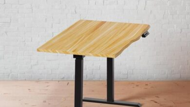 48-60 Solid Wood Stand Up Desk - Elm Top
