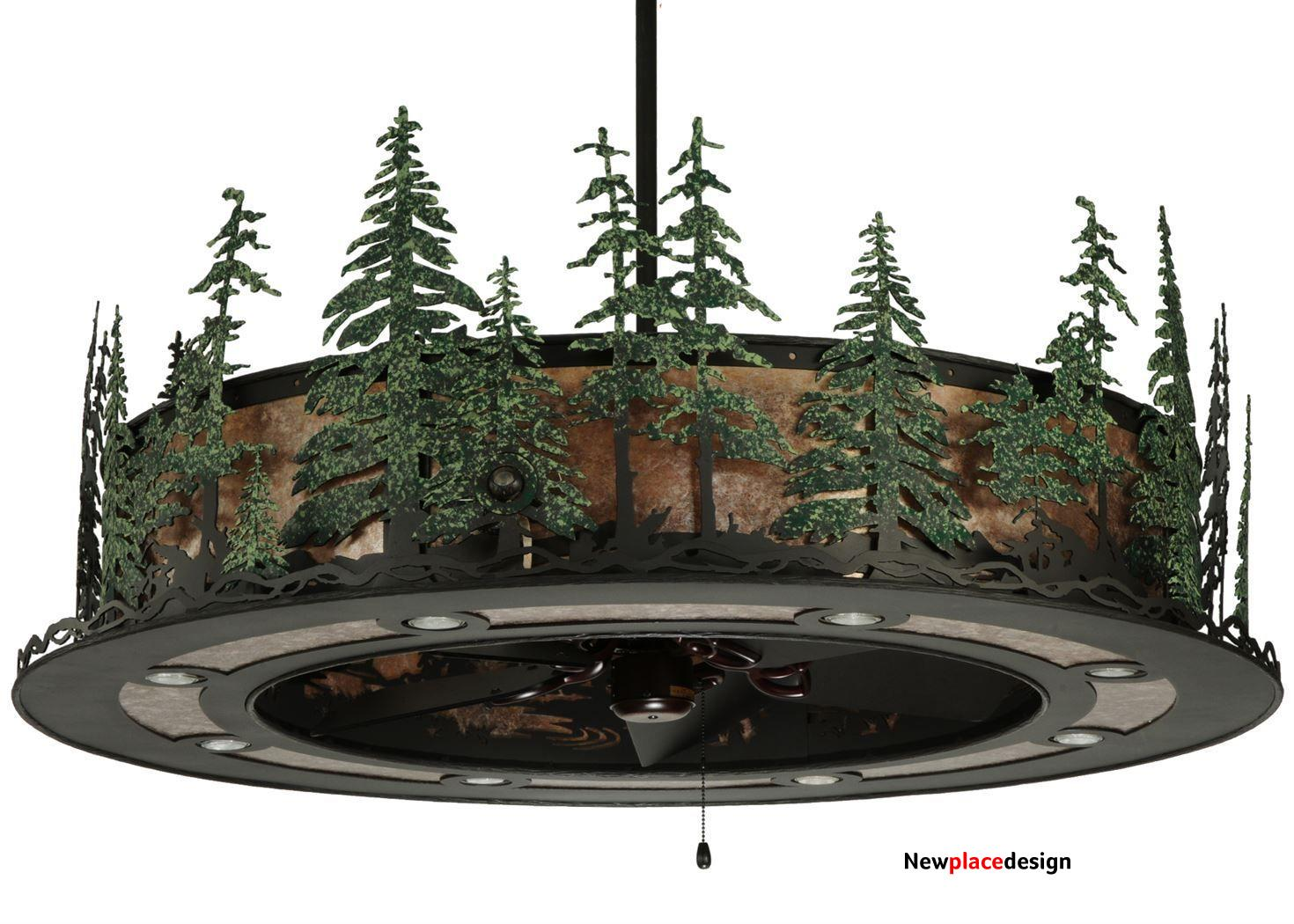 """48""""W Tall Pines with Up Downlights LED Spotlight Chandel-Air"""