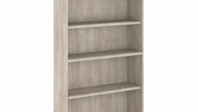 5 Shelf Bookcase - Washed Gray / Unique / Various