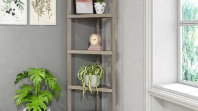 "60"" Bookcase with 2 Shelves in Washed Grey"