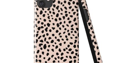 ANIMAL DOTS Peach Dust Phone Case - iPhone 13 Pro Max / Snap Case - Gloss